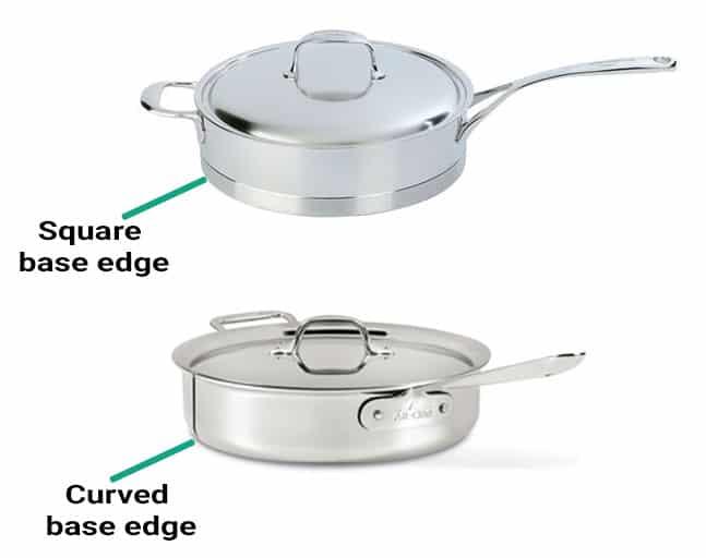 Demeyere vs. All-Clad base edges