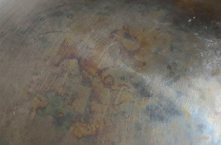 Heat Tint on Stainless Steel Cookware