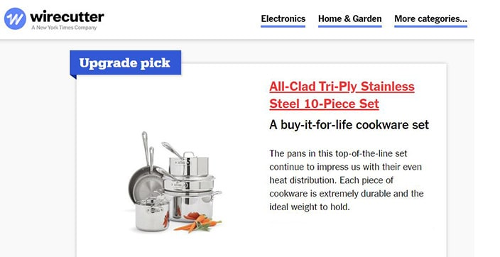 TheWirecutter.com Best Cookware Sets - All-Clad
