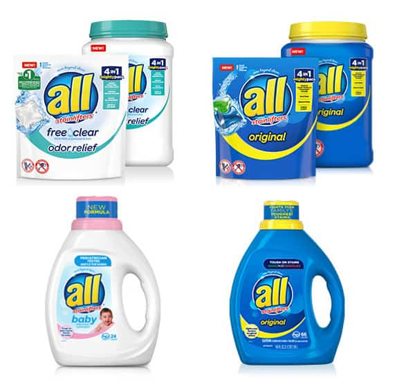 All detergent product offerings