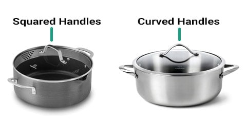 Calphalon Classic vs. Contemporary lid handle design