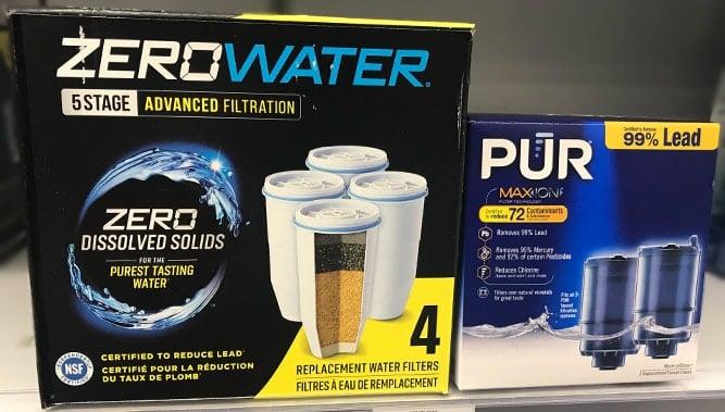 ZeroWater versus PUR