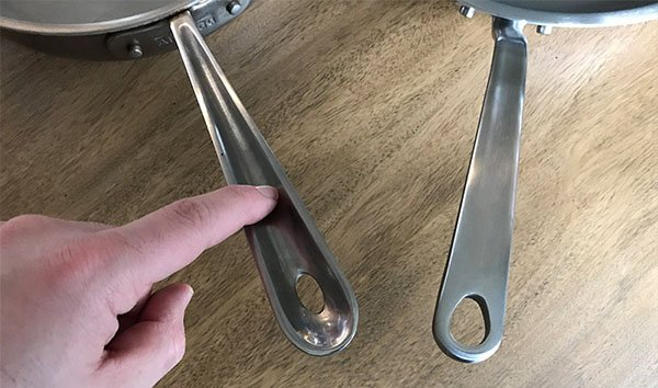 All-Clad vs. Made In handle design