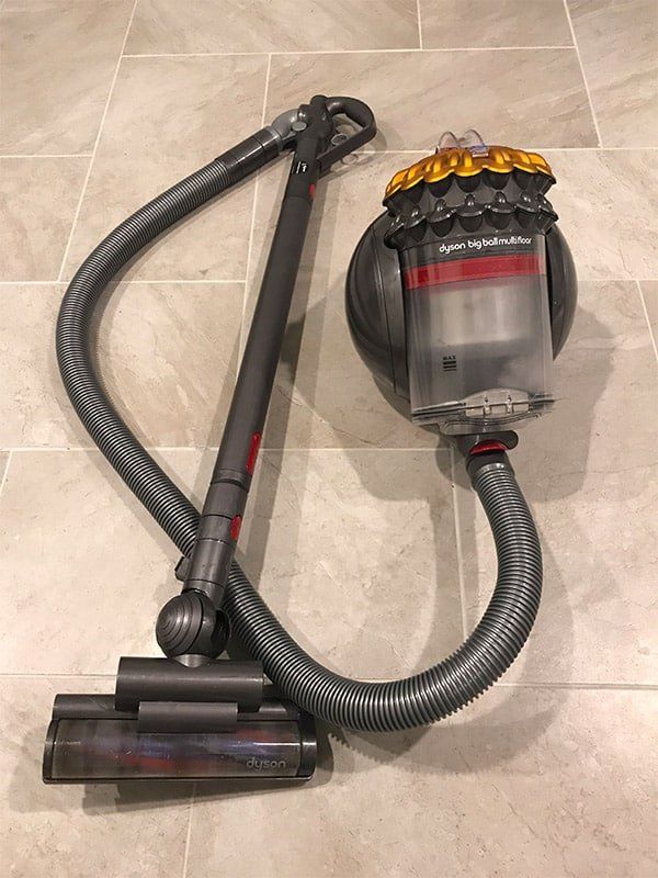 Dyson Big Ball Multi Floor Canister Vacuum on a Tile Floor