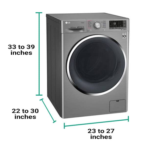 Washer dryer combo dimensions