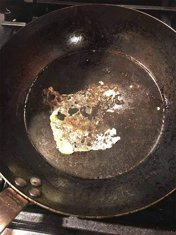 Eggs sticking to the Made In carbon steel frying pan
