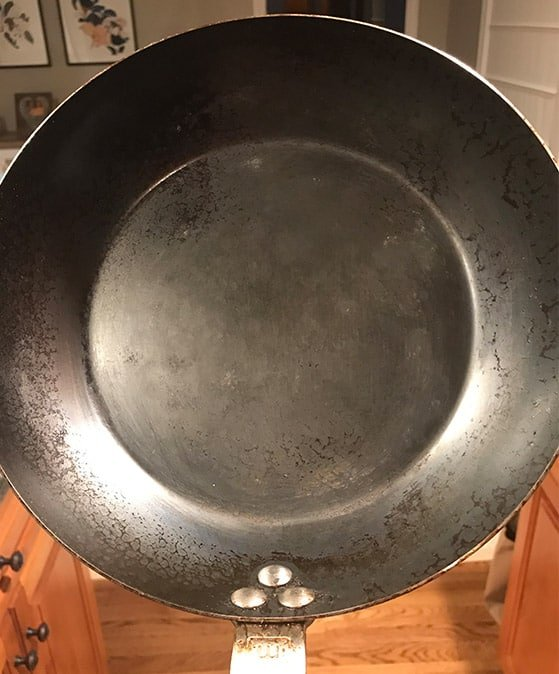 Made In Carbon Steel Frying Pan After Several Uses
