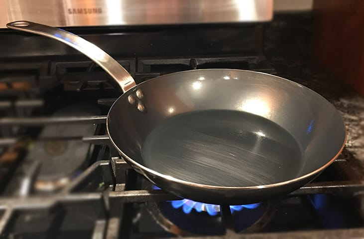 Made In Carbon Steel Frying Pan Steep Sidewalls