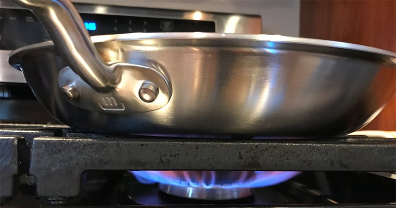 Made In Cookware Heating Test