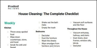 House Cleaning Checklist Printable PDF