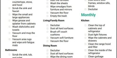 The Ultimate House Cleaning Checklist (Printable PDF)