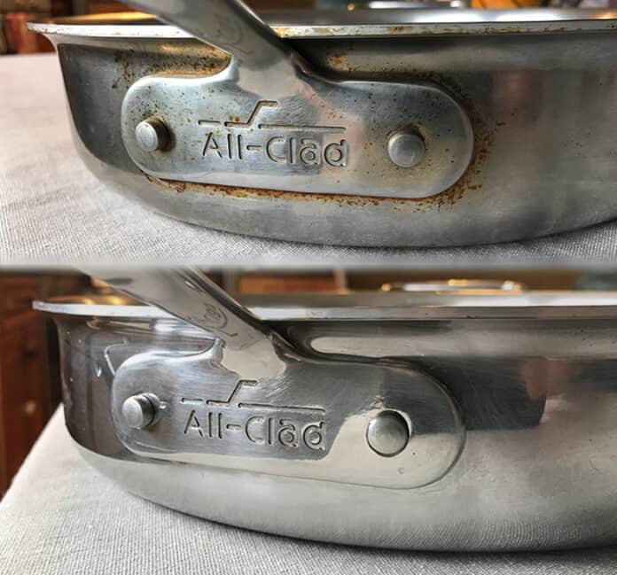 How to clean All Clad stainless steel cookware