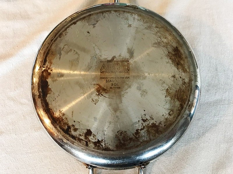 Stained All-Clad skillet