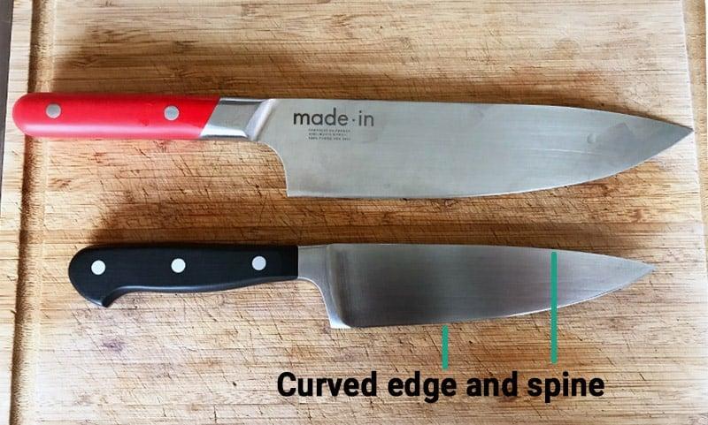 Chefs knife blade design