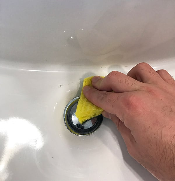 Cleaning a Cracked Porcelain Sink
