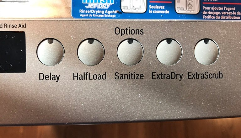 Dishwasher options