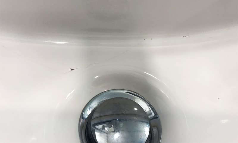 Fixing a Cracked Porcelain Sink