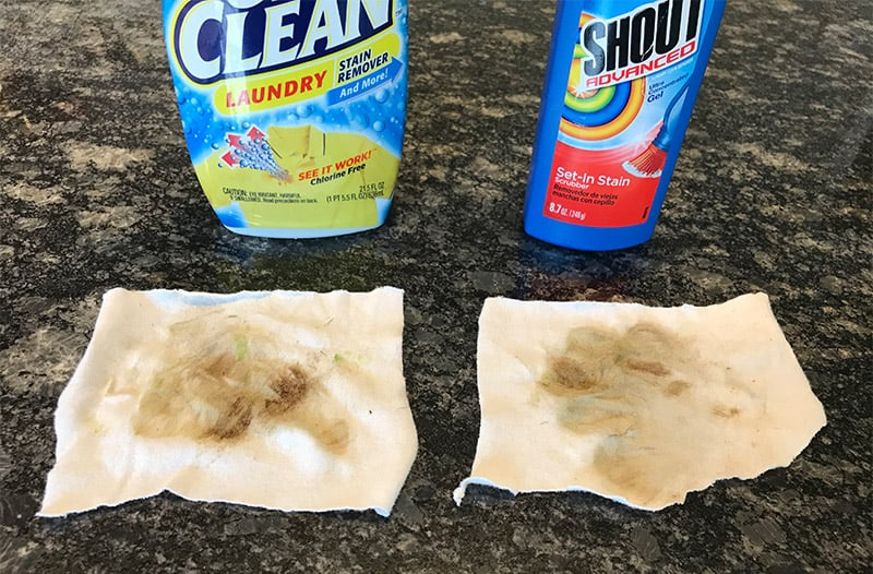 OxiClean and Shout vs. Grass and Dirt Stains_Before