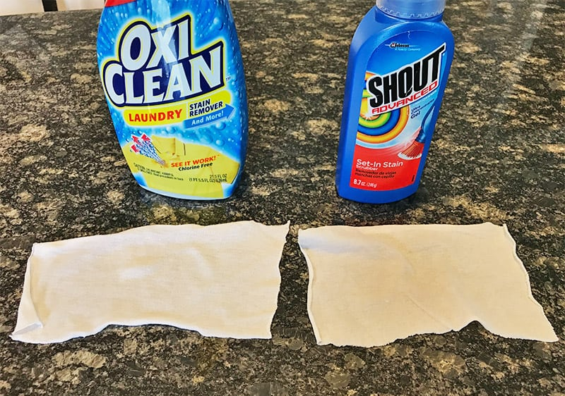 OxiClean and Shout vs. Red Wine Stains_After