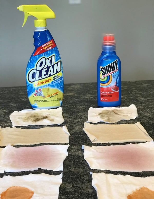 OxiClean versus Shout Performance Test