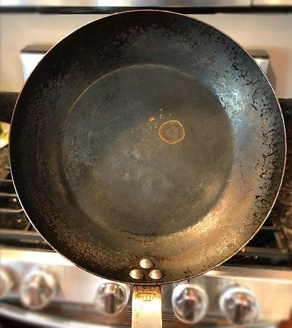Rusting Carbon Steel Pan