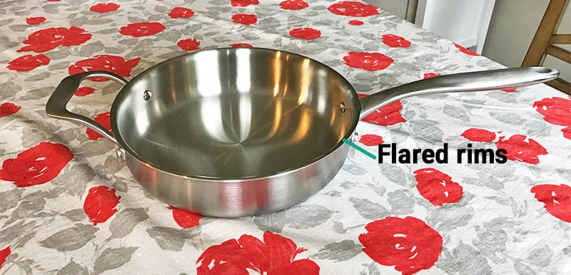Abbio Stainless Steel Cookware Design_Flared Rims