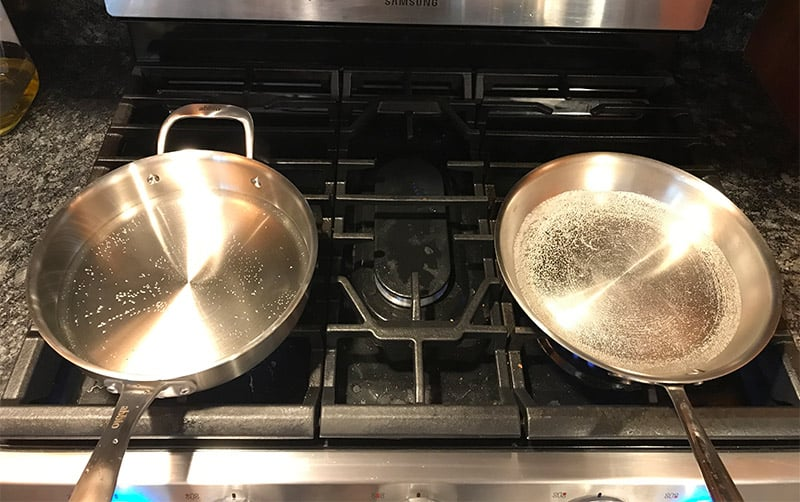 Abbio Stainless Steel Cookware Heat Test
