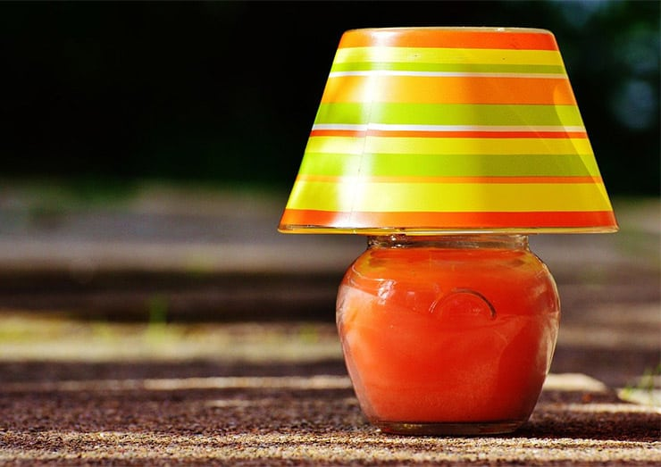 Glass lampshade