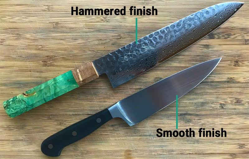 Japanese versus German knives_blade finish