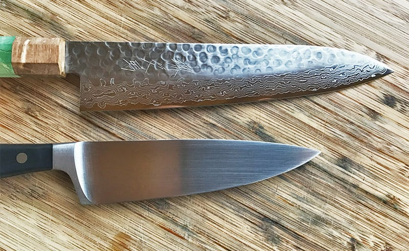 Japanese versus German knives_blade profile