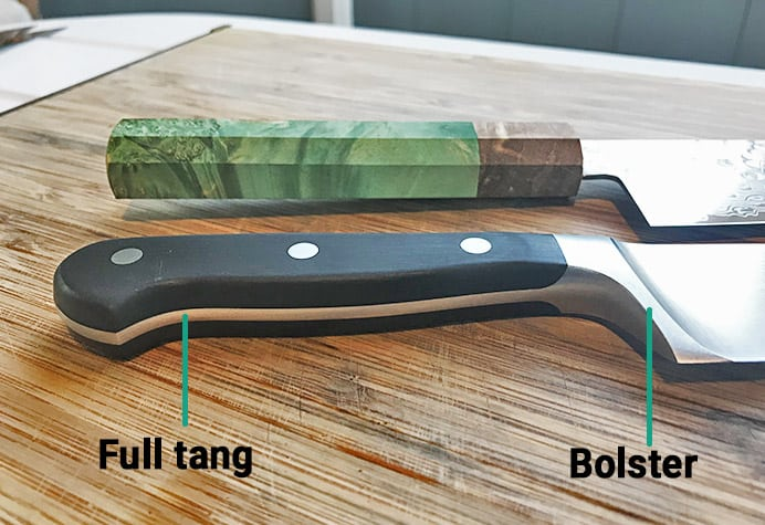 Japanese versus German knives_handle design