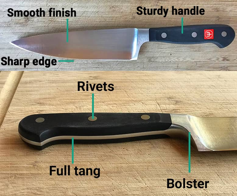 German Kitchen Knife Labeled