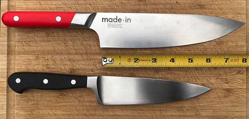 6 inch versus 8 inch chefs knife