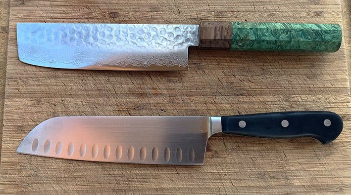 Nakiri versus Santoku Knives