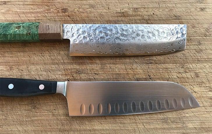 Nakiri versus Santoku Knives Blade Design