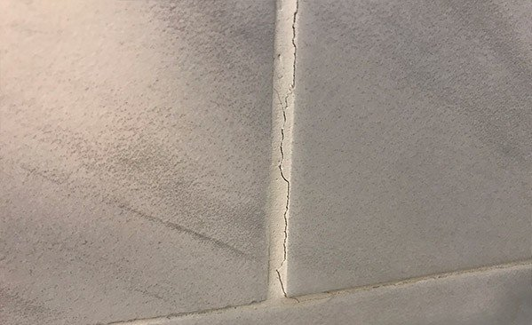 Tile grout cracking