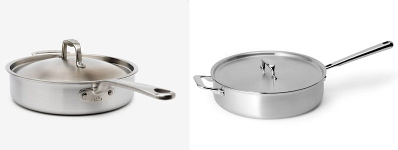 Made In and Misen cookware lids