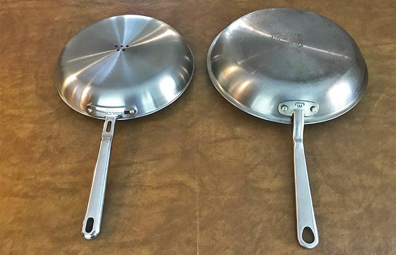 Made In versus Misen Cookware Brushed Exterior