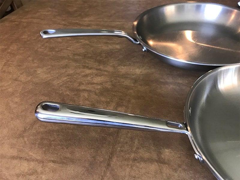Made In versus Misen Cookware Handles