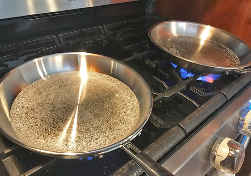Made In versus Misen Cookware Heat Test