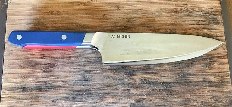 Made In versus Misen Kitchen Knife Blade Sizes