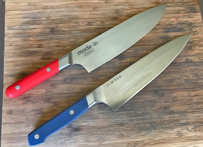 Made In versus Misen Kitchen Knives