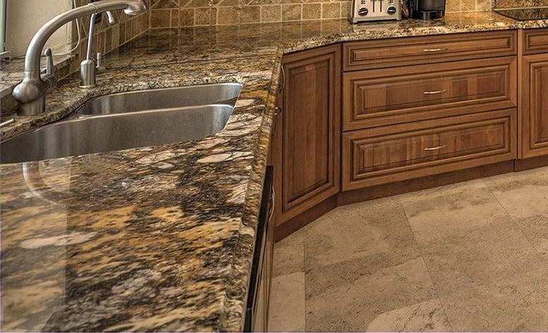 Granite countertops busy design