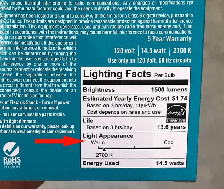 Soft White bulbs label