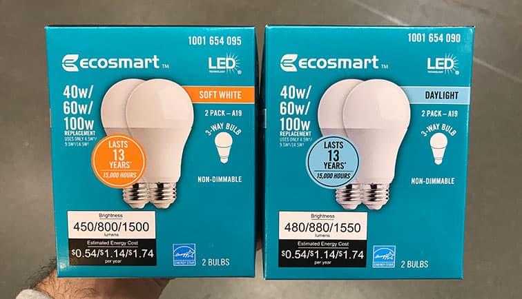 Soft White versus Daylight bulbs