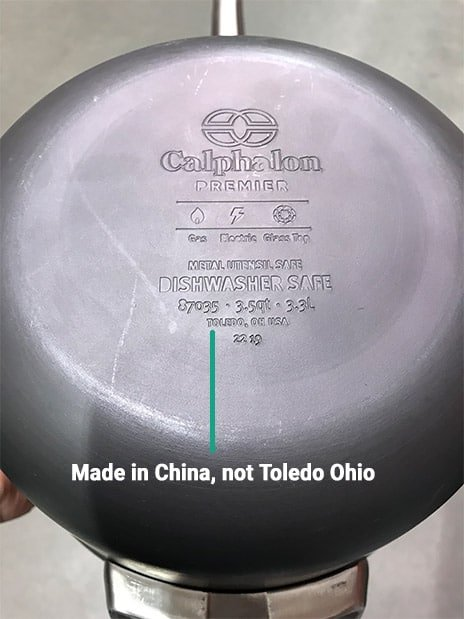 Calphalon Premier Made in China