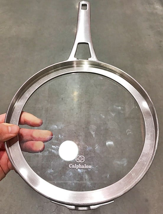 Calphalon Premier Space Saving Flat Tempered Glass Lids