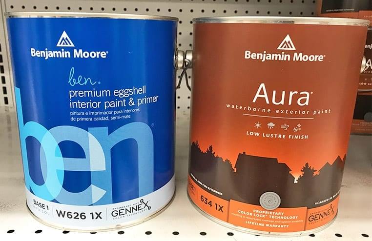 Interior versus exterior paint