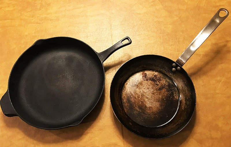 carbon steel versus cast iron_appearance