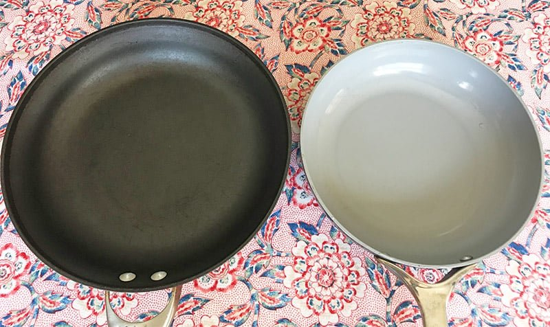 hard-anodized versus ceramic non-stick cookware